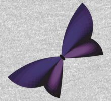 Purple Geometric Butterfly Kids Clothes