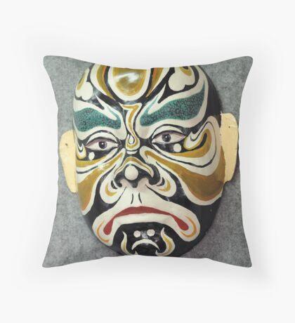 China Opera mask Throw Pillow
