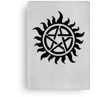 Supernatural Demon Possession Protection [BLACK] Canvas Print