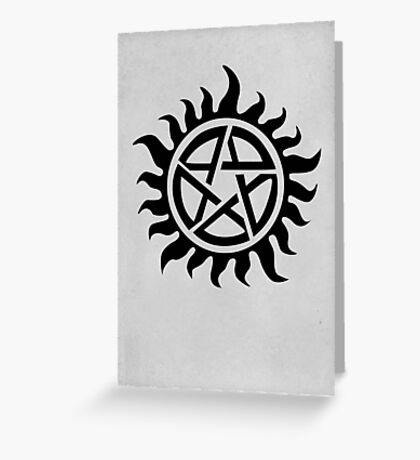 Supernatural Demon Possession Protection [BLACK] Greeting Card