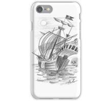 Pirate ship sketch iPhone Case/Skin