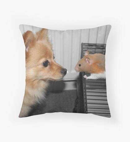 unlikely love Throw Pillow