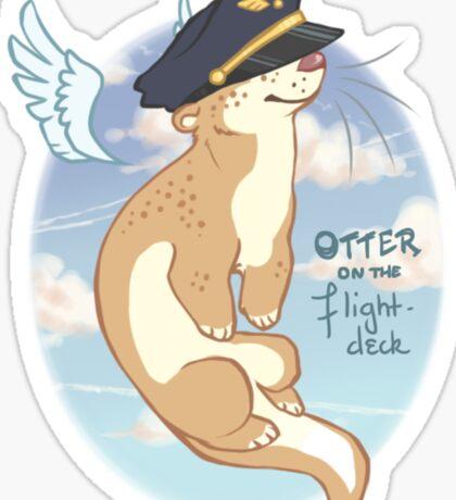 Otter on the Flight Deck Sticker