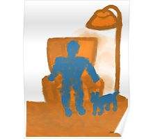 The Orange Chair Poster