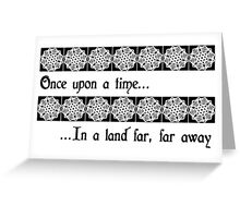Once There Was A Snowflake... Greeting Card