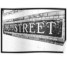 86th Street Poster