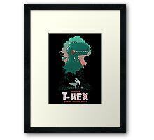 Visit our T-Rex! Framed Print