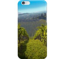 View of Hunter Valley vineyards, NSW, Australia iPhone Case/Skin