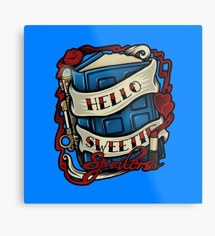 Hello Sweetie (pillow) Metal Print