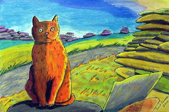 289 - LEFT BY THE ROADSIDE - DAVE EDWARDS - COLOURED PENCILS & INK - 2010 by BLYTHART