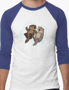 Cute: Sea Otters Men's Baseball ¾ T-Shirt