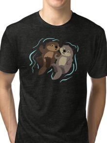 Cute: Sea Otters Tri-blend T-Shirt