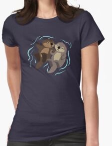 Cute: Sea Otters Womens Fitted T-Shirt