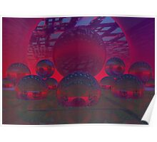 Abstract CXXXI - Cubed Chaos Dayglo Poster