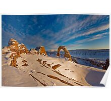 Delicate Arch first sonw Poster