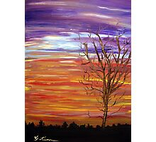 Colorful Streaks of Sunset Clouds Photographic Print