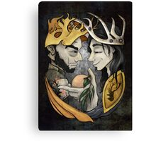 King's Peach Canvas Print