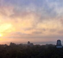 Sunrise Over Tikal by Heather Haderly