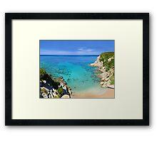 Escalet Beach at Cap Camarat, Ramatuelle near St-Tropez Framed Print