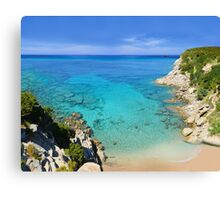 Escalet Beach at Cap Camarat, Ramatuelle near St-Tropez Canvas Print