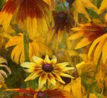 Monet's Sunflowers Sticker
