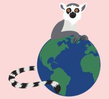 Earth Day Lemur One Piece - Long Sleeve