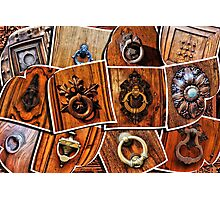 A few pictures of italian door knockers and knobs Photographic Print