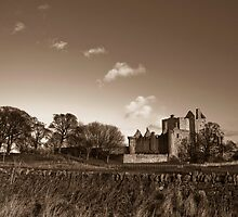 Craigmillar Castle in Sepia by Gary Winters