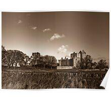 Craigmillar Castle in Sepia Poster