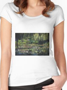 Monet's Lily Pond Women's Fitted Scoop T-Shirt