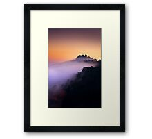 Embrace By The Clouds Framed Print