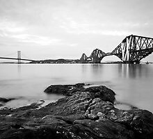 Forth Bridges at Dusk by Claire Tennant