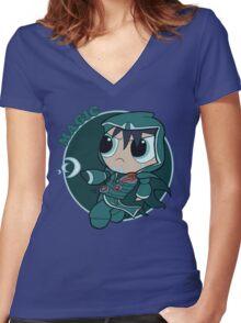 Powerpuff Jace Berelen Women's Fitted V-Neck T-Shirt