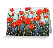 Morning Red Poppies Greeting Card