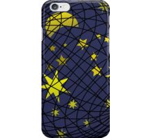 Celestial sphere with moon and stars iPhone Case/Skin