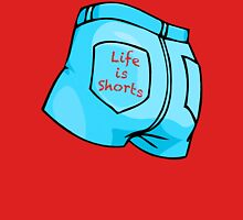 Life Is Shorts - Pale Denim Womens Fitted T-Shirt
