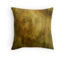 Lady in the Shadows Throw Pillow