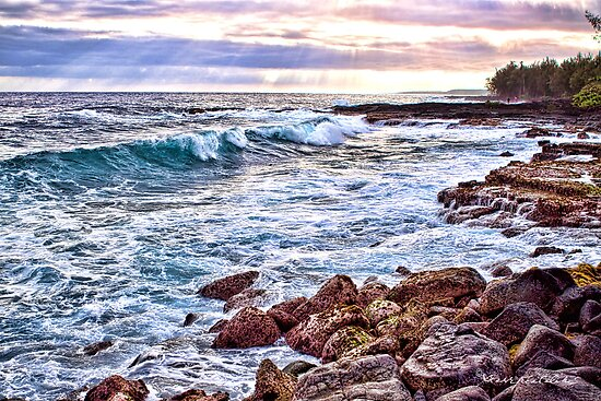 Makuu Bay, Puna, Big Island Hawaii by StarrK