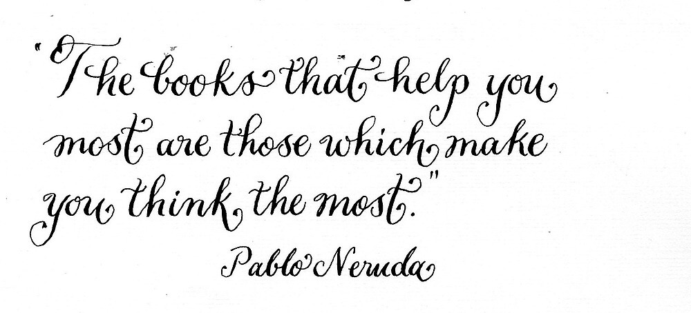 Encouraging quote for reading handwritten calligraphy by Melissa Goza
