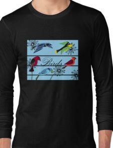 Birds Royal Long Sleeve T-Shirt