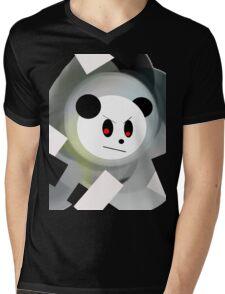 demon panda Mens V-Neck T-Shirt