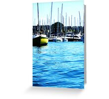 Stunning Yachts Greeting Card