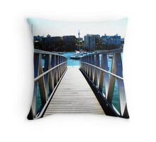 Yachts at Dock Throw Pillow