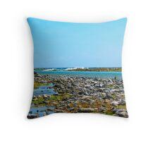 Aqua Inlet Throw Pillow