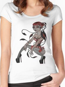 japanese tentacle hair  Women's Fitted Scoop T-Shirt