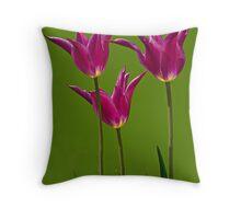Three Tulips Throw Pillow
