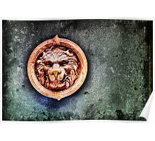 Venetian door knocker Poster