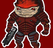 Mass Effect 3: Urdnot Wrex Chibi  by SushiKittehs