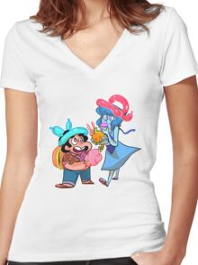 carnival day Women's Fitted V-Neck T-Shirt
