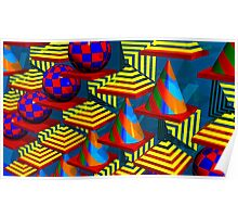 Abstract  With Patterns Poster